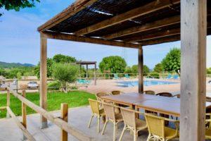 Überdachte Terrasse Haus 2 Finca Mallorca Can Agustin