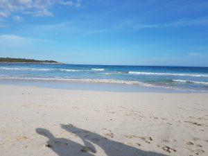 Leerer Strand Sa Coma an der Ostküste von Mallorca