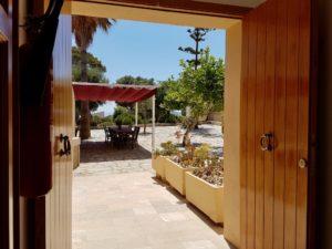Ausblick auf den Dorfplatz Haus 2 Finca Mallorca Can Agustin