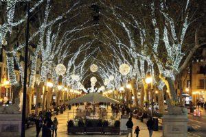 Weihnachtsbeleuchtung Born Palma Mallorca