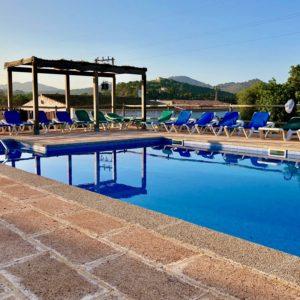 Poolbereich Haus 2 FINCA MALLORCA Can Agustin
