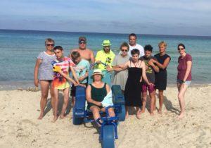 Strandausflug auf der Klassenfahrt nach Mallorca