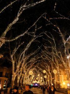 Weihnachtsbeleuchtung in Palma de Mallorca