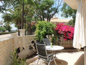 Außenbereich / Terrasse Ferienwohnung S'Illot Mallorca
