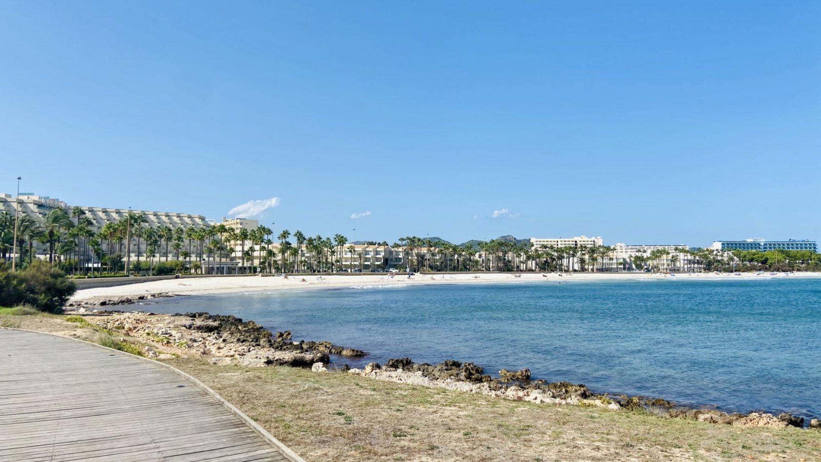 Sa Coma Blick auf den Strand
